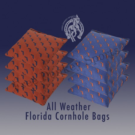 Florida Outline … All-Weather Cornhole Bags (Set of 8)
