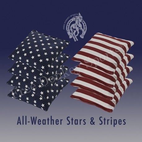 Stars and Stripes  All-Weather Cornhole Bags (Set of 8)
