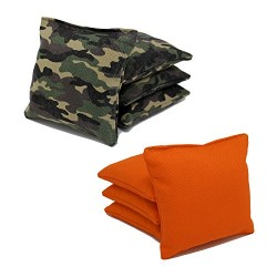 Camo/Orange All-Weather Cornhole Bags (Set of 8)